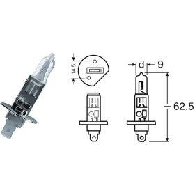 COPPIA BCR LAMPADE 12V/55W H1 SUPER WHITE