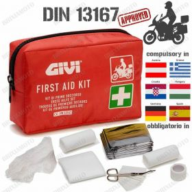 KIT PRONTO SOCCORSO SAFETY MOTO DIN 13167