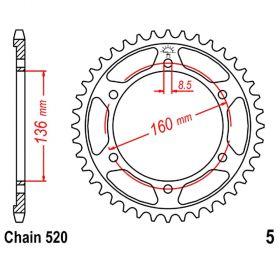 CORONA Z49 520 NERA D.INT. 136 727.00.28