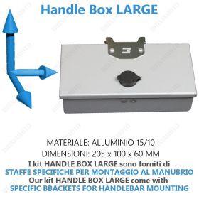 HANDLE BOX LARGE SILVER HANDLEBAR WITH KEY