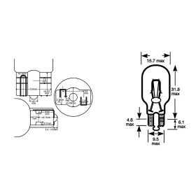 10 LAMPADINE OKYAMI 12V 18W T15 BIANCA