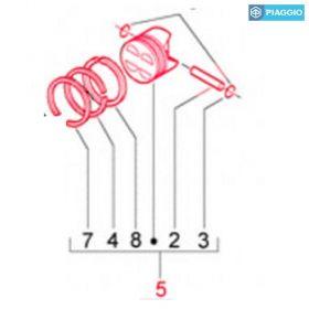 PIAGGIO PI8328123 PISTONE MASTER 500 3