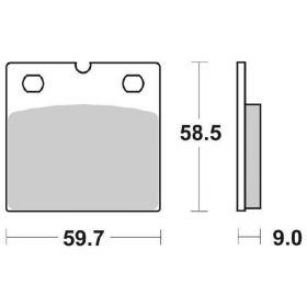 COPPIA PASTIGLIE FRENO 554HF 554 HF