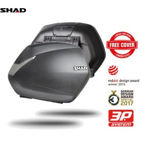 SHAD D0B36100 COPPIA VALIGIE LATERALI SH36 36LITRI 3P SYSTEM CARBON MOTO SCOOTER