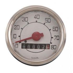 CONTACHILOMETRI V50N D.52 TONDO BIANCO